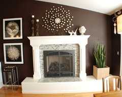 Wall Art Over Fireplace Decorations For Mantel Remarkable