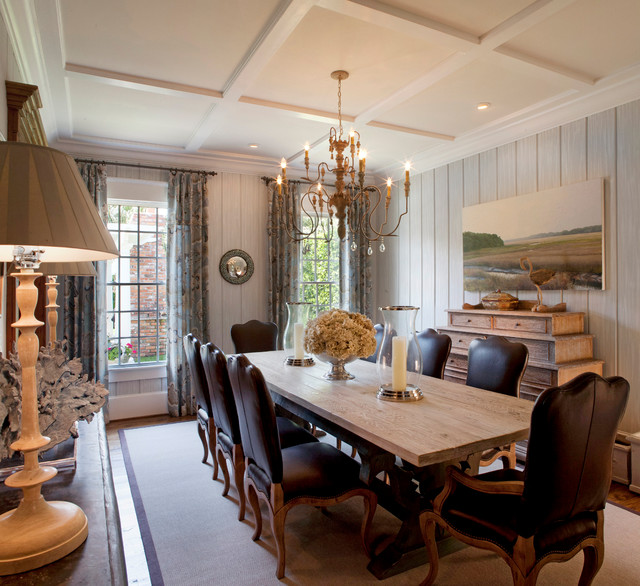Coastal chic traditional dining room jacksonville for Traditional dining room decorating photos