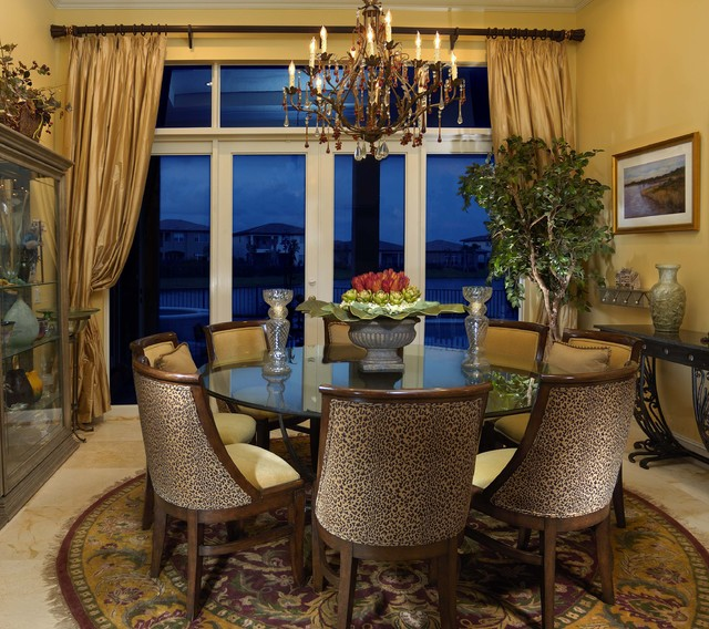 Traditional Home Dining Rooms : Traditional Country French Home - Traditional - Dining Room - miami ...