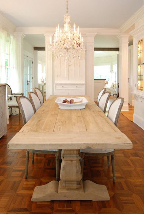 dining room bench table | I bought this table at restoration hardware plus two adele ...