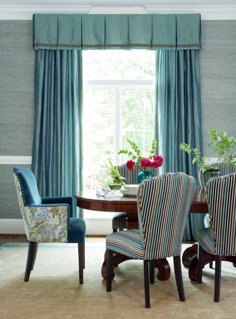 Myriad Fabric Collection traditional-dining-room