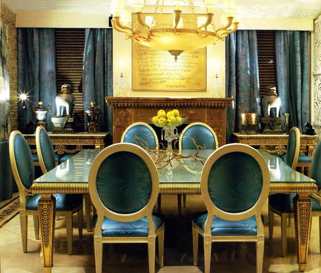 deco dining room - traditional - dining room - other -