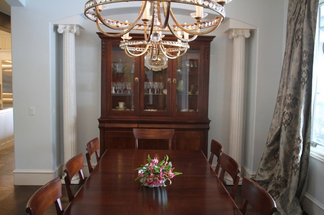 Custom home designs traditional dining room oklahoma for Dining room design questions