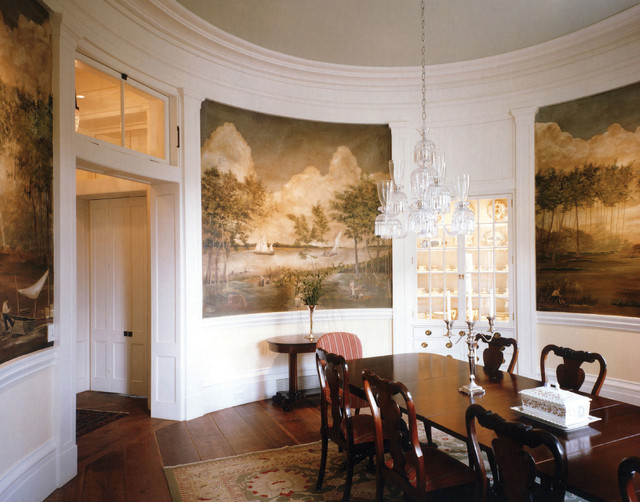 Plantation Style Southern Estate Traditional Dining