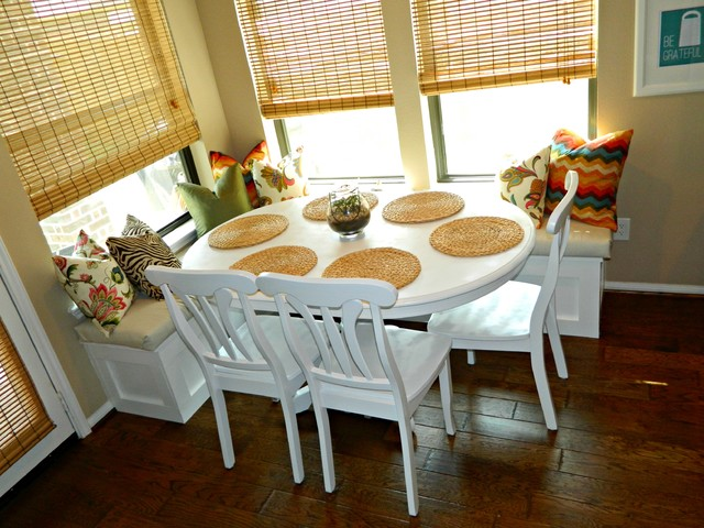 Breakfast Room Banquette Traditional Dining Room Houston