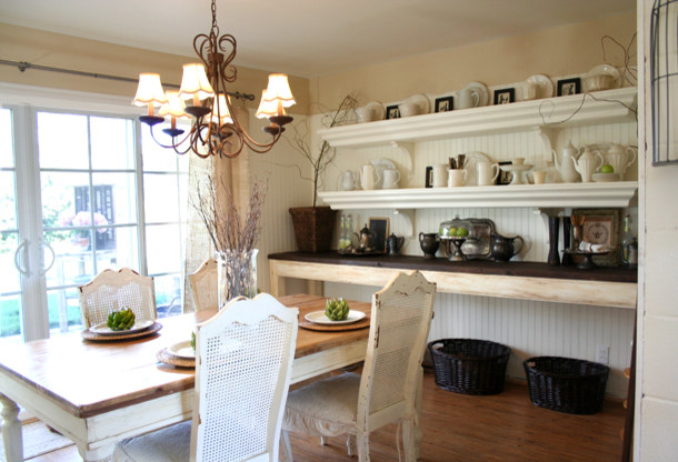The Old Painted Cottage traditional-dining-room