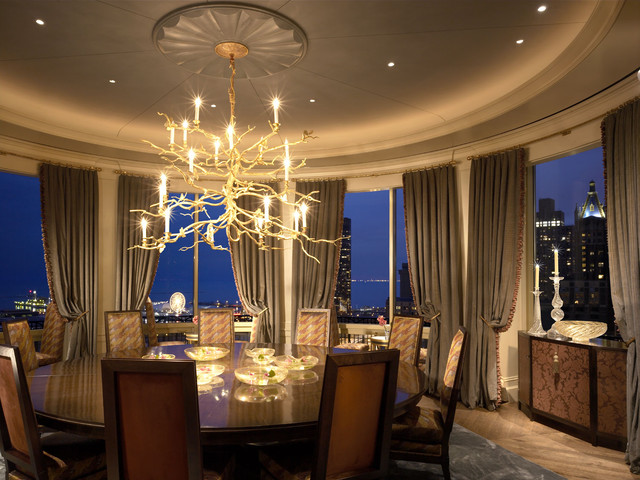 Lake Shore Drive Penthouse traditional-dining-room