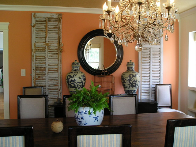 Shabby Chic Style Dining Room Traditional