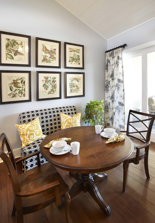 eclectic dining room by elmhurst interior designers decorators