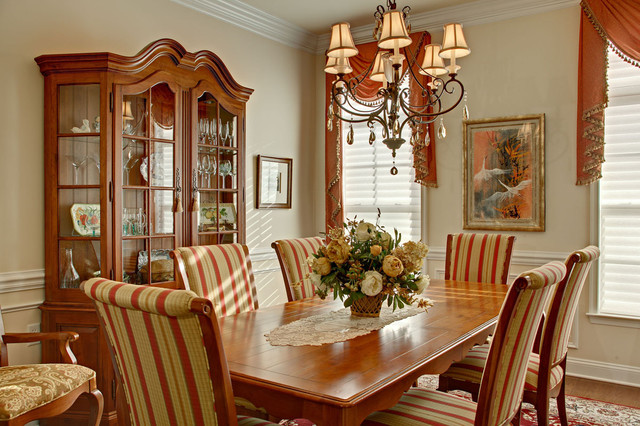 French Dining Room with French country decor traditional-dining-chairs