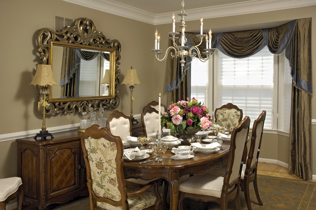 Cortese dining room 3 traditional dining room dc for Ideas for dining room curtains