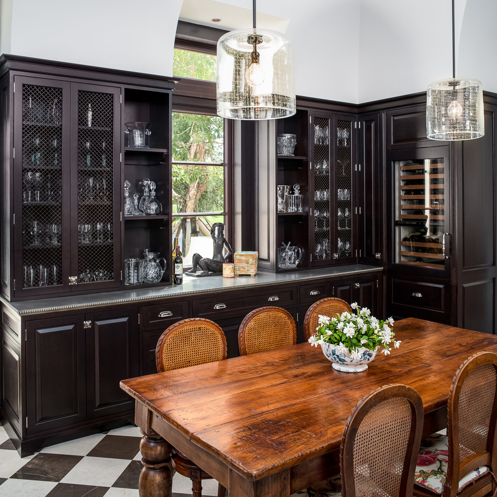 Example of a classic dining room design in Other with white walls