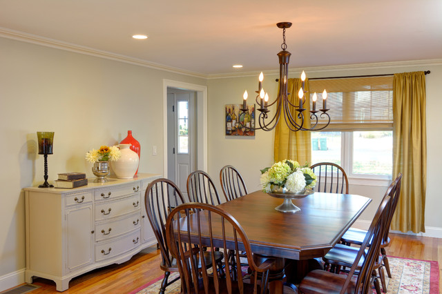 traditional dining room remodel oak flooring crown molding recessed lighting traditional - Dining Room Remodel
