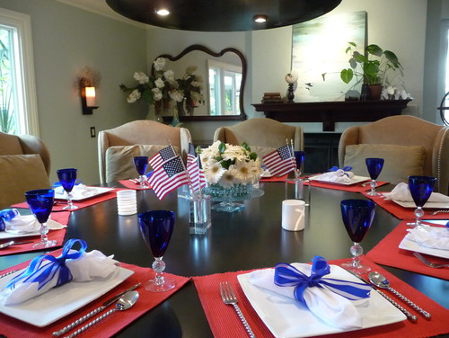 Table Settings: Red, White and Blue | Shoptalk by Sturbridge Yankee ...