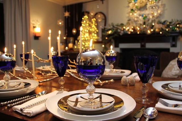 Hanukkah decorations traditional dining room san