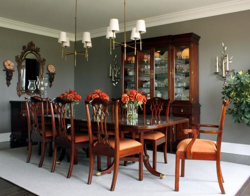 Traditional Mahogany Dining Room