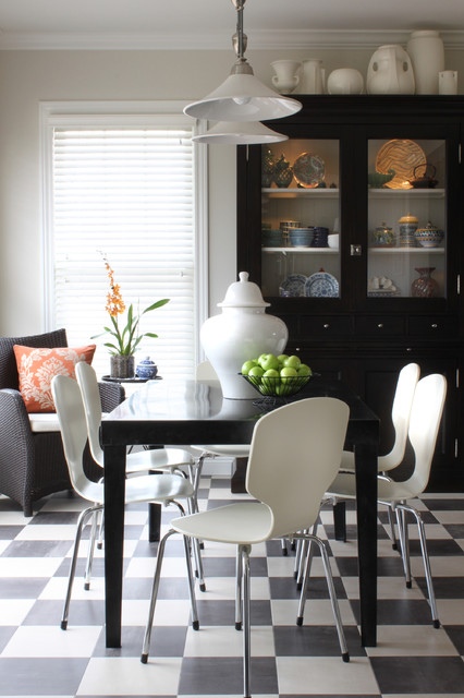 Transitional Breakfast Room contemporary dining room