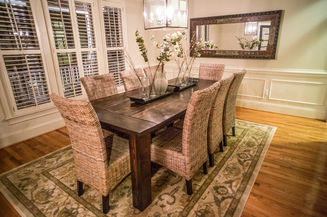 Traditional Farmhouse Table Farmhouse Dining Room Raleigh  Farmhouse Dining Room Table