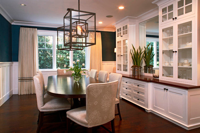 Traditional Homes Adorable Dining Room Wall Cabinets