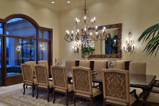 Traditional Lighting Design San Diego Dining Room