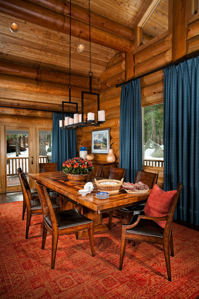 Cabin Rustic Dining Room, Log Cabin Dining Room Chairs
