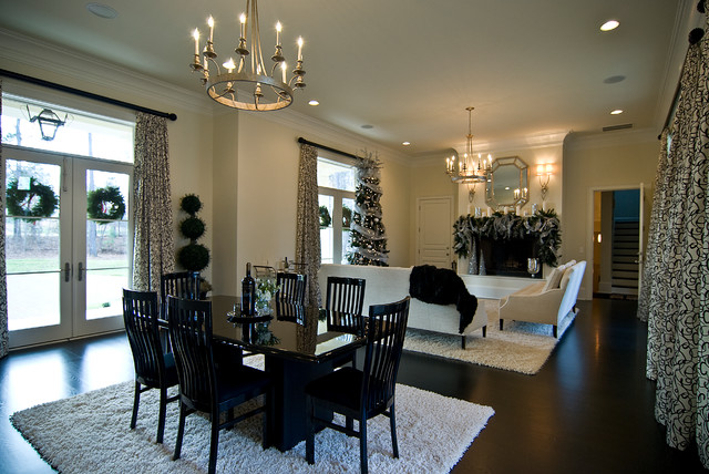 Traditional modern traditional dining room charlotte for New traditional dining room