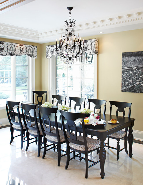 Kitchen Dining Room Combo Large Traditional Marble Floor And White