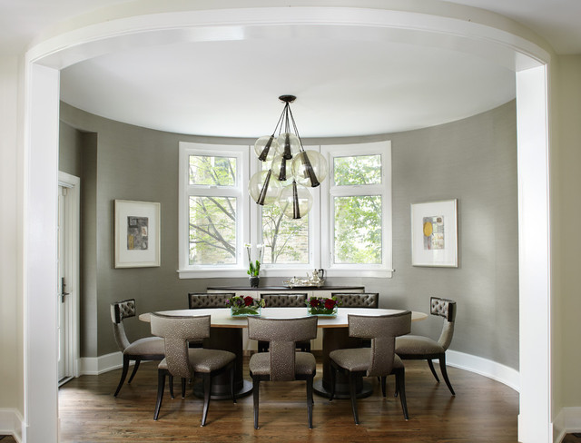 contemporary dining room by Morgante Wilson Architects