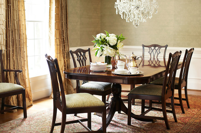 traditional southern home traditional dining room