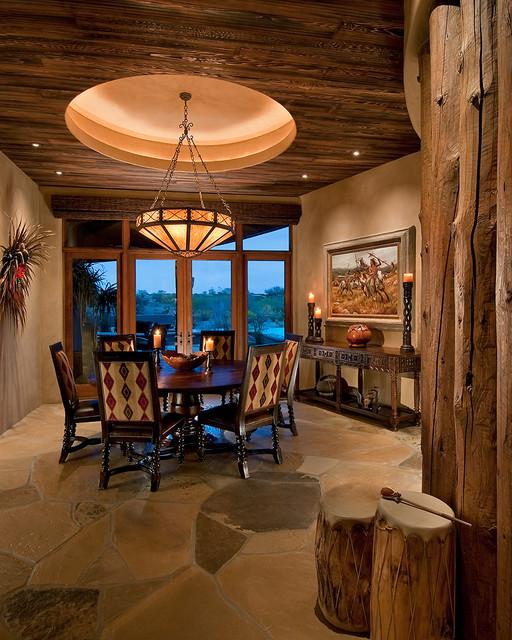 Home Gym Design Ideas Basement: Traditional Southwest Territorial