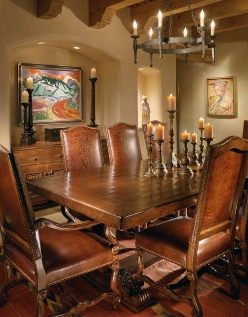 santa fe southwestern dining room other metro by