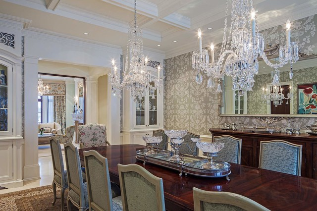 Traditional Tudor Style Home With French Interiors Traditional Dining Room Toronto By