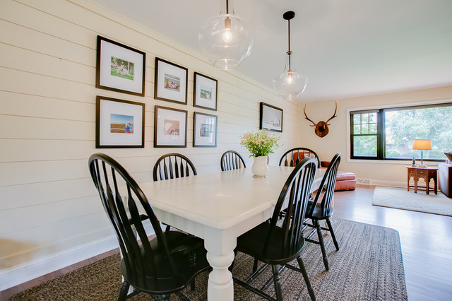 Transit Ave Whole House Remodel Roseville Mn Farmhouse Dining Room Minneapolis By Constructive Builders
