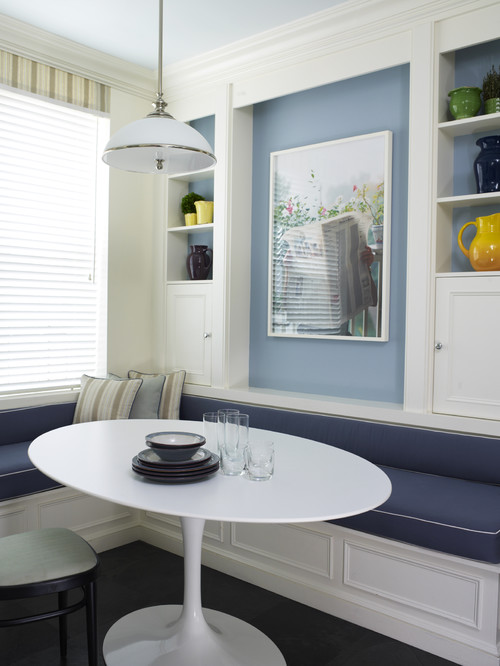 transitional breakfast nook modern kitchen