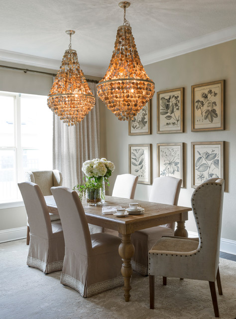 Transitional Chic Traditional Dining Room