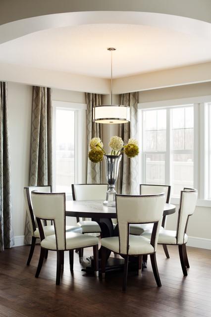 Elera transitional dining room edmonton by amr for Interior design edmonton