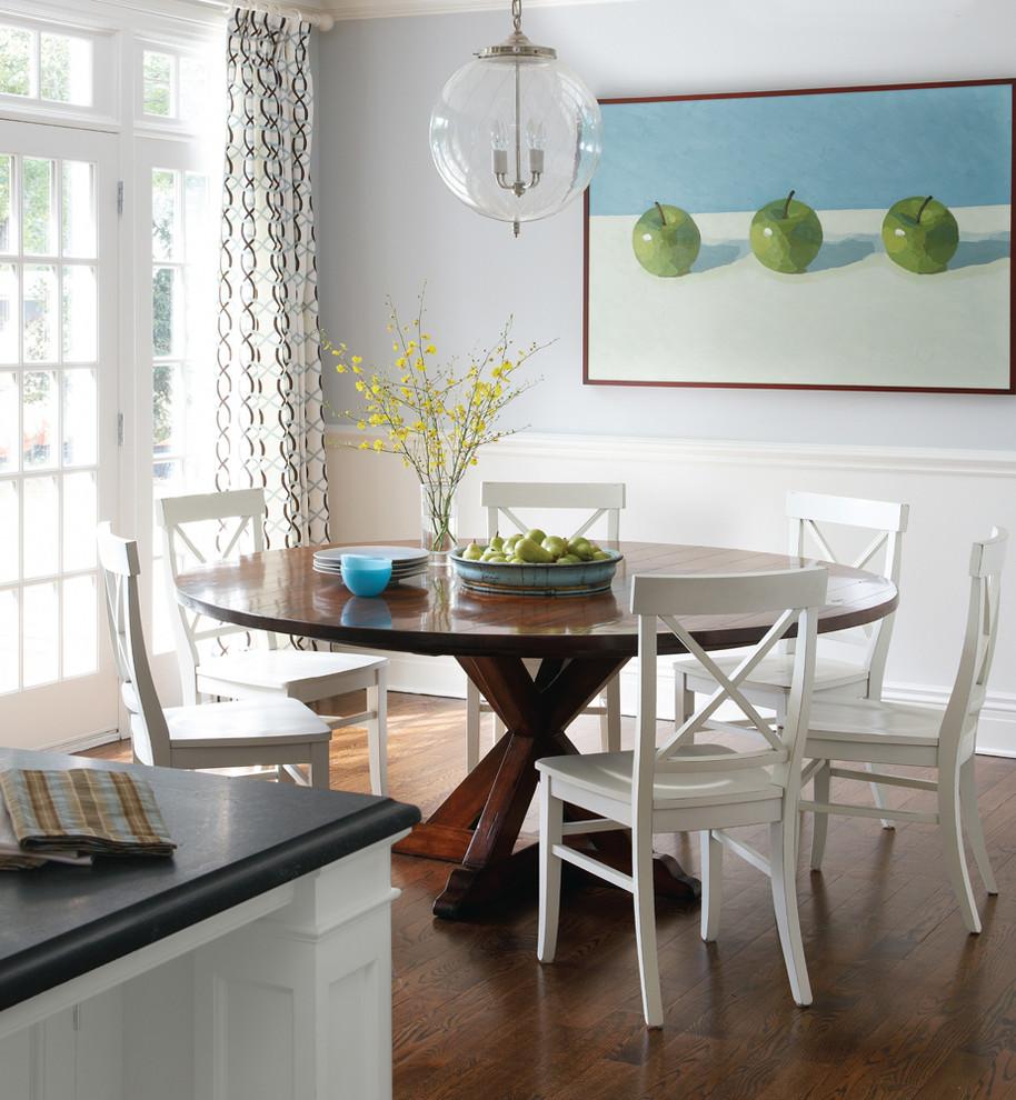 Dark Wood Table With White Chairs, Dark Wood Dining Room Table With White Chairs