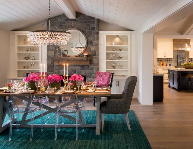 Lafayette remodel transitional dining room san francisco by koch neve interior design for Interior designers lafayette la