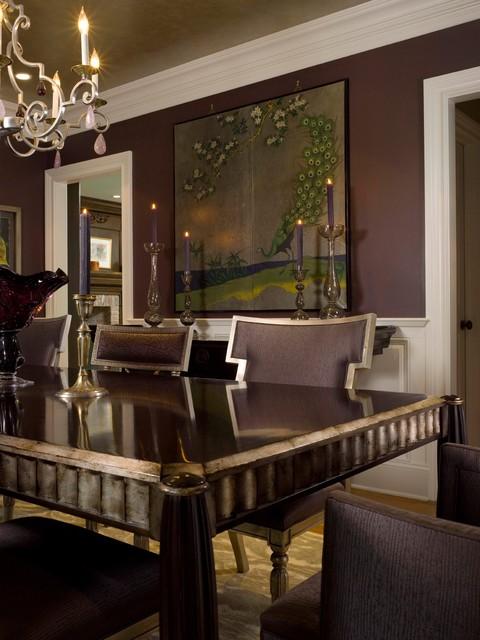 Dining room - traditional dining room idea in New York
