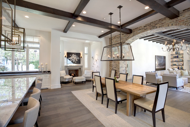 Transitional Dining Room By Phillip Jennings Custom Homes