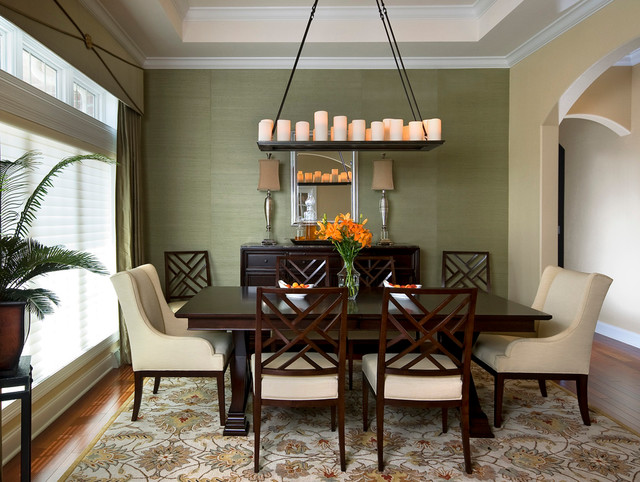 Houzz Wallpaper Dining Room: Transitional Dining Room