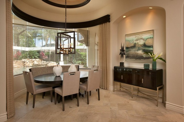 Private Estate Home Naples Florida Transitional Dining Room Other Metro By Ren E Gaddis