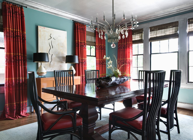 eclectic dining room by Panageries