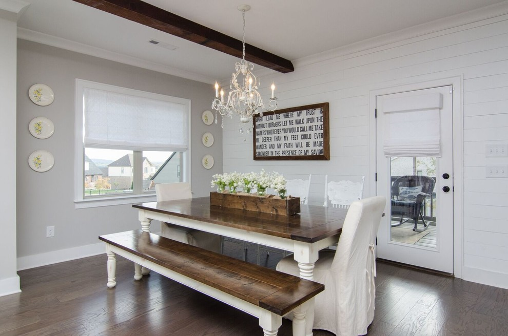 Transitional Farmhouse Window Treatments Farmhouse Dining Room Nashville By Jls Designs