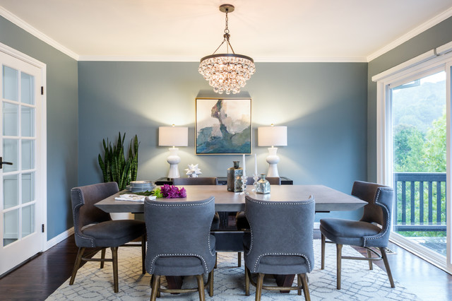 Transitional Glamour Dining Room