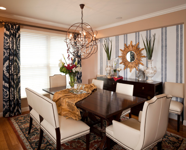 Transitional House Contemporary Dining Room