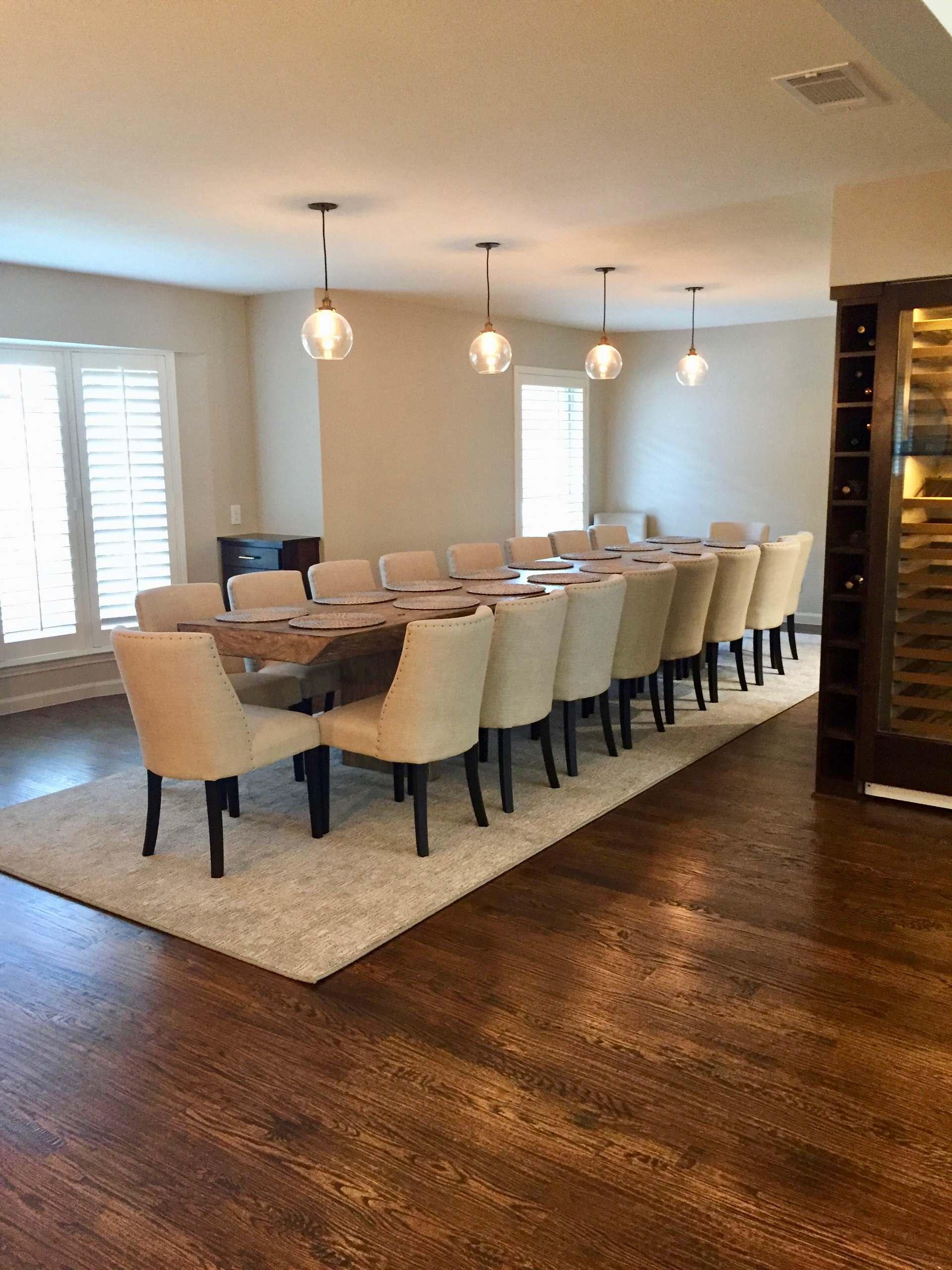 Transitional Living & Dining room.