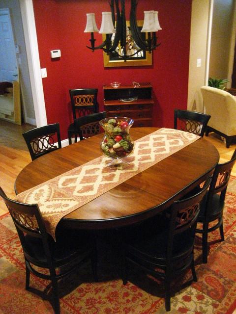 Transitional LR/DR traditional-dining-room