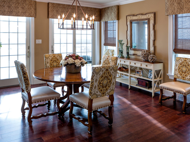 Transitional spaces transitional dining room for Best transitional dining rooms