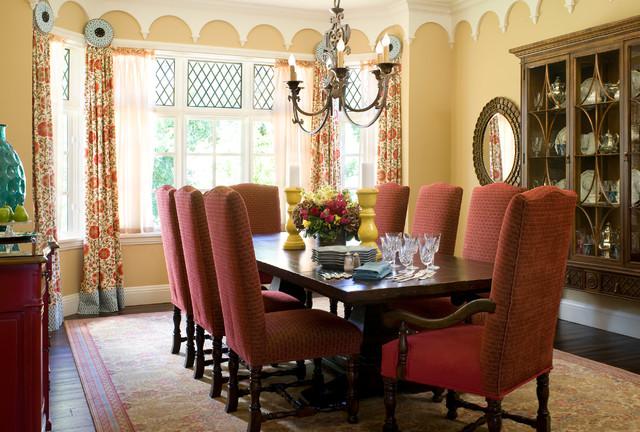 Transitional Tudor traditional-dining-room